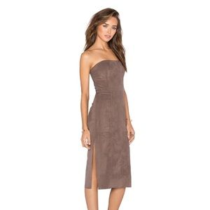 NWT Halston Heritage ultrasuede dress
